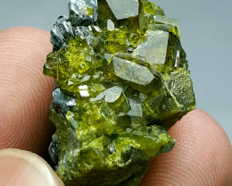 Cute and Lovely Epidote with Black Mica 70Cts-Afghanistan