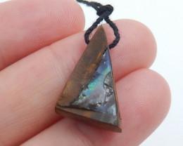 10.5cts Boulder Opal Gemstone Pendant Bead Fire, Rare Australian Opal C733