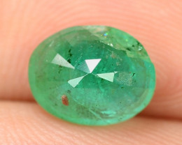 1.39 Cts NATURAL EARTH MINED GREEN COLOR COLOMBIAN EMERALD LOOSE GEMSTONE