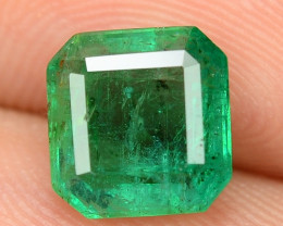 1.51 Cts NATURAL EARTH MINED GREEN COLOR COLOMBIAN EMERALD LOOSE GEMSTONE