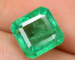 1.79 Cts NATURAL EARTH MINED GREEN COLOR COLOMBIAN EMERALD LOOSE GEMSTONE