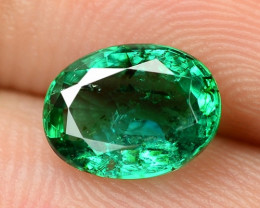 1.00 Cts NATURAL EARTH MINED GREEN COLOR COLOMBIAN EMERALD LOOSE GEMSTONE