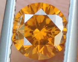0.70cts, Diamond,   Vivid Orange Diamond
