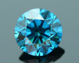 AIG Certified Electric Blue 0.61 ct SI2 Clarity Diamond SKU-12