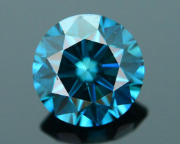 AIG Certified Electric Blue  0.58 ct SI2 Clarity Diamond SKU-12