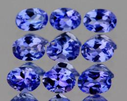 4x3 mm Oval 9pcs 1.71cts Purple Blue Tanzanite