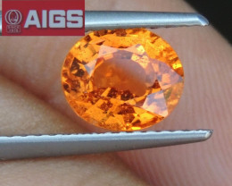 1.80cts AIGS certified Sapphire,  New Heat