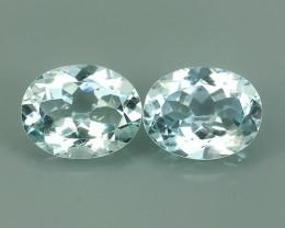 3.20 Cts Sparkling Luster - Oval Gem - Natural Blue -Aquamarine