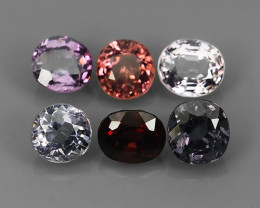 4.00 CTS~ADAROBLE RARE NATURAL FANCY SPINEL TOP COLOR 6 PCS!!