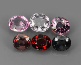 3.85 CTS~ADAROBLE RARE NATURAL FANCY SPINEL TOP COLOR 6 PCS!!