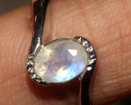 Natural Rainbow Moonstone 925 Silver Ring Size US (7) 118