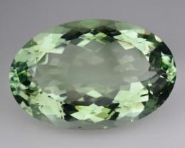 29.62 Cts Natural Green Prasiolite / Amethyst Oval Cut Brazil