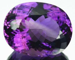 ~BRILLIANT~ 23.41 Cts Natural Purple Amethyst Oval Cut Bolivia
