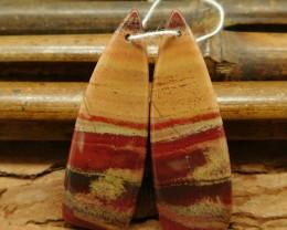 Red river jasper earring pairs (G0339)