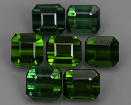6.85 CTS-ALLURING TOP GREEN PARTY COLOR TOP TOURMALINE OCTAGON CUT!!!