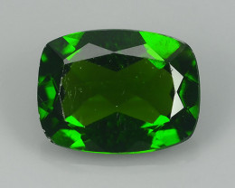 1.35 CTS WOW!! NATURAL ULTRA RARE CUSHION CUT CHROME TOP GREEN DIOPSIDE RUS