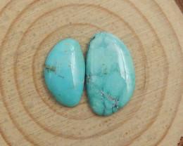 2pcs Turquoise Cabochons ,Handmade Gemstone ,Turquoise Cabochons ,Lucky Sto