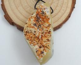 97cts yellow opal Stone Pendant, Raw opal Healing stone C738