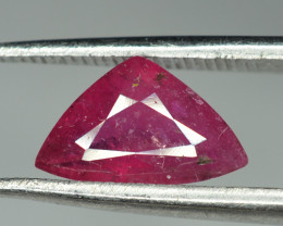1.65 Cts Trillion Cut Rubellite Tourmaline From Afghanistan ( Heated )