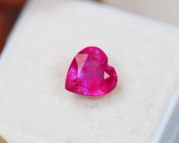 2.34ct Pink Ruby Heart Cut Lot D143