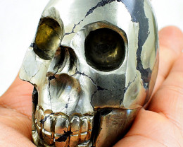 Genuine 2370.00 Cts Golden Pyrite Skull