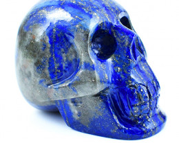 Genuine 1490.00 Cts Blue Lapis Lazuli Carved Skull