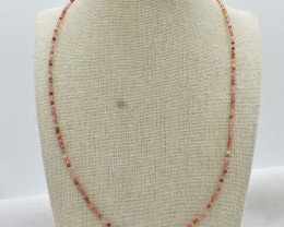 Beads Necklace Natural Gemstone 925 Sterling Silver Clasp