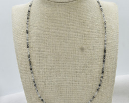 Rutile Beads Necklace Natural Gemstone 925 Sterling Silver Clasp NK8