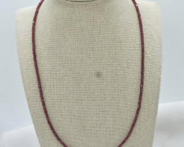 Garnet Beads Necklace Natural Gemstone 925 Sterling Silver Clasp NK12