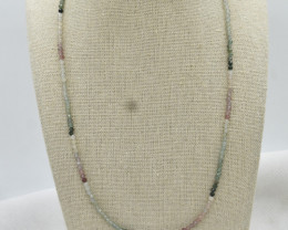 Mix Beads Necklace Natural Gemstone 925 Sterling Silver Clasp NK14