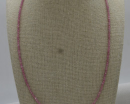 Beads Necklace Natural Gemstone 925 Sterling Silver Clasp NK24