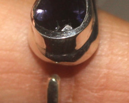 Natural Amethyst 925 Sterling Silver Ring Size (7) 111
