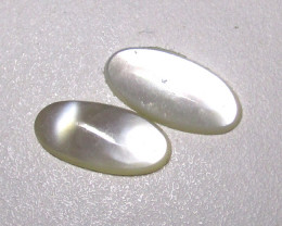2.13cts Mother of Pearl Oval Cabochons Matching