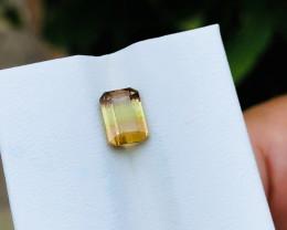 1.55 Ct Natural Tri Color Transparent Tourmaline Ring Size Gemstone