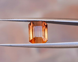 3 Ct Natural Golden Orange Transparent Tourmaline  Gemstone