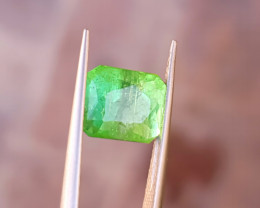 4.10 Ct Natural Bi Color Transparent Tourmaline Ring Size Gemstone