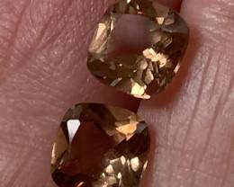 Caramel Gold Topaz Gem Pair VVS No reserve ~ 7.5mm