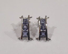 Iolite 925 Sterling silver earrings #33411