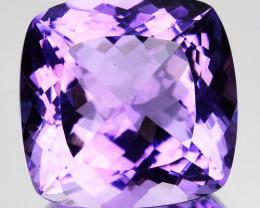 ~BEAUTIFUL~ 11.61 Cts Natural Purple Amethyst 14 mm Cushion Cut Bolivia