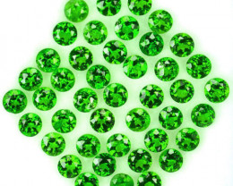 5.60 Cts Natural Chrome Diopside Vivid Green 3 mm Round 43 Pcs Russia