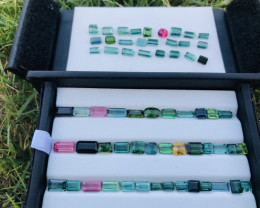54 Carats Mixed Color Natural Tourmaline Gemstones Parcel From Afghanistan