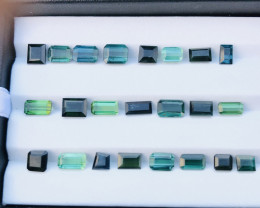 28.10 Carats Mixed Color Tourmaline Gemstones Parcel