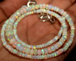 28 Crt Natural Ethiopian Welo Fire Opal Beads Necklace 955
