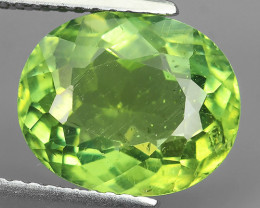 AWESOME 4.65 CTS AMAZING NATURAL RARE LUSTROUS GREEN APATITE NR!!