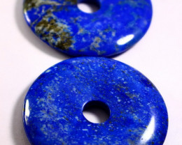 380 CT Natural lapis  lazuli Carved Dount Special Shape