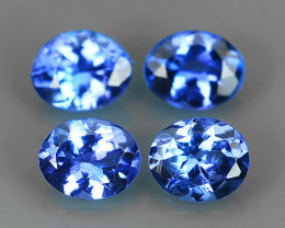 1.35 CTS~AWESOME NICE 4.9X3.9 MM MIXED OVAL TOP BLUE NATURAL TANZANITE FACE