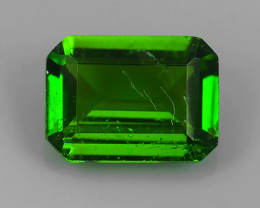 1.40 CTS NATURAL UNHEAT GENUINE LUSTROUS  CHROME DIOPSIDE OCTAGON GEM NR!!