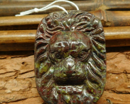 Dragon bloodstone animal craft lion bead animal jewelry (G0366)