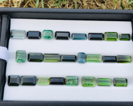 52 Carats Mixed Color Natural Tourmaline Gemstones Parcel