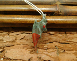 Natural gemstone carving dragon bloodstone wing dragon (G0370)